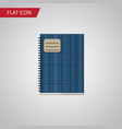 isolated notebook flat icon copybook vector image