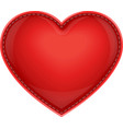 leather pillow heart vector image vector image