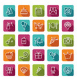 linear birthday icons set vector image