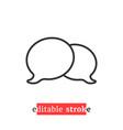 minimal editable stroke chat room icon vector image vector image
