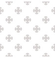 minimalist seamless pattern with floral shapes vector image