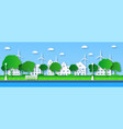 paper eco city green trees in public vector image