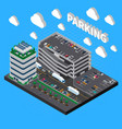 parking isometric composition vector image vector image