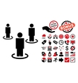 People Flat Icon with Bonus vector image vector image