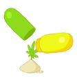 Pills of marijuana icon cartoon style vector image vector image