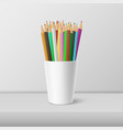 realistic blank plastic cup-stand with a vector image