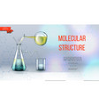 realistic laboratory research concept vector image vector image