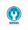 repair service logo template concept vector image vector image