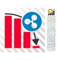 ripple epic fail graph flat icon with bonus vector image vector image