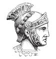 Roman Centurion engraving vector image