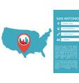 san antonio map infographic vector image