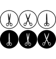 scissors set in frame vector image vector image