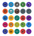 seo optimization and marketing icons set vector image vector image