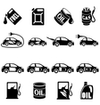 set different fuel icons vector image vector image