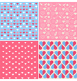 Set of 4 Valentines Day Seamless Patterns vector image