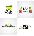 Set of africa flag logo design Jamaica music vector image vector image