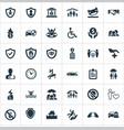 set of simple insurance icons vector image vector image