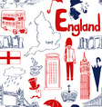 Sketch England seamless pattern vector image vector image