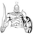 spartan warrior mascot vector image vector image