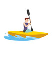 sports man in the tournament with the boat vector image vector image