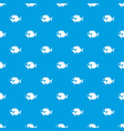 surgeon fish pattern seamless blue vector image
