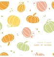 thanksgiving colorful pumpkins silhouettes frame vector image