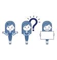 Three women is secretaries vector image