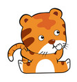 tiger in cartoon style vector image vector image