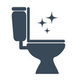 toilet cleaning icon design isolated vector image