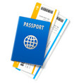 travel documents passport vector image vector image