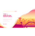 trip to brazil landing page template vector image