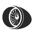 turbine black icon electric propeller vector image vector image