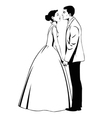 Wedding couple in love vector image vector image