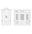 White door on isolated background vector image vector image