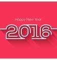 Creative happy new year 2016 design Flat design vector image