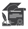 diploma silhouette vector image