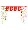 2018 new year festive scenery of confetti and vector image vector image
