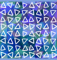 abstract seamless pattern triangles drawn on vector image vector image