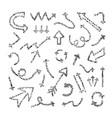 abstract set with hand drawn arrows and direction vector image vector image