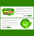 advertisement emblems with green leaves web pages vector image vector image