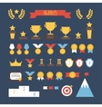 Award icons colorful set of prizes and trophy vector image vector image