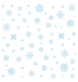 Background with blue snowflakes vector image vector image