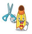 barber swim fin character cartoon vector image