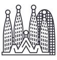 barcelonasagrada familia line icon sign vector image vector image