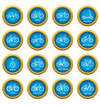 bicycle types icons set simple style vector image vector image