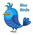 Blue Funny Bird vector image