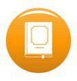book design icon orange vector image