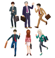 Business-minded people vector image vector image