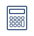 calculator icon on white background vector image