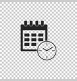 calendar and clock icon on transparent background vector image